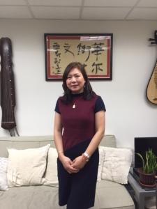 Helen Liu at her Wall Street office
